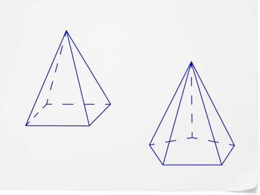 Drawn pyramid solid Figure single of sides type