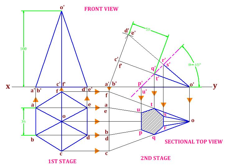 Drawn pyramid solid Engineering Solids of Engineering Engineering