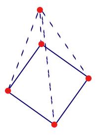 Drawn pyramid square base Square MathCaptain Surface com Area