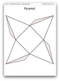 Drawn pyramid square base To Printable Pyramid Shapes Print