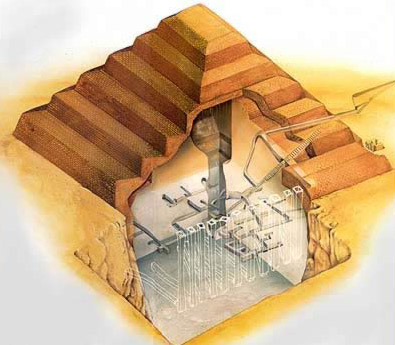 Drawn pyramid step pyramid Djoser of drawing Pyramid Egypt