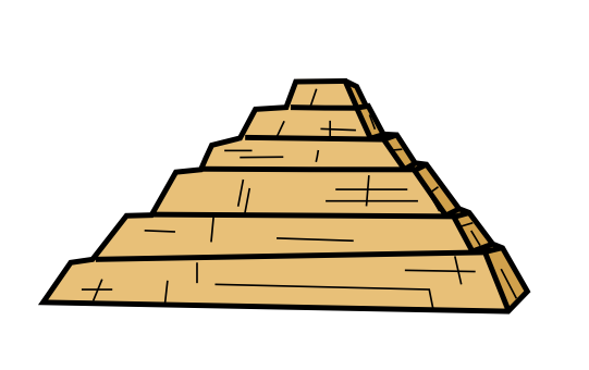 Drawn pyramid step pyramid On Pectwer by by Pectwer