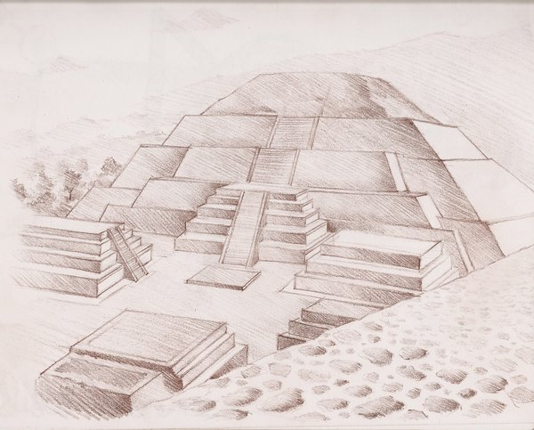 Drawn pyramid teotihuacan Teotihuacan on Sketch by Teotihuacan