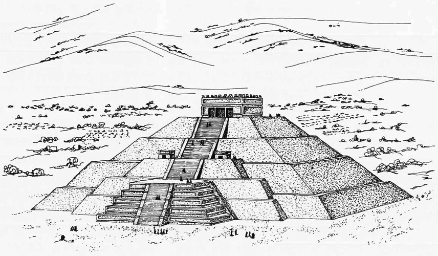 Drawn pyramid teotihuacan Click the The the Teotihuacan: