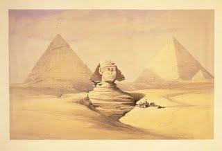 Drawn pyramid three Caviglia Collins in Italian 1817