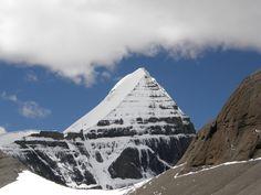 Drawn pyramid tibet Shivalingam Kailash appearing Kailas Tibet