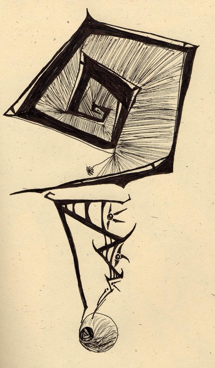 Drawn question mark artistic #9
