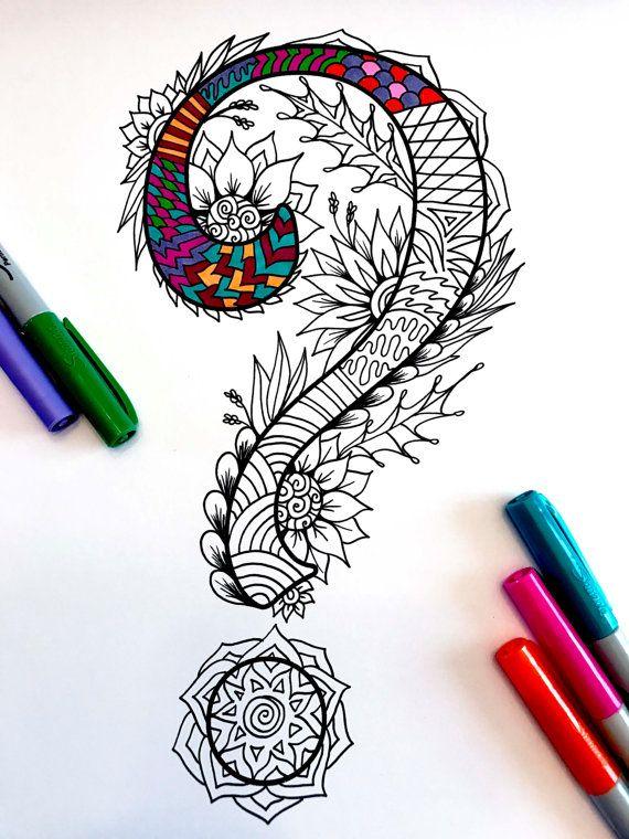 Drawn question mark artistic #10