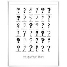 Drawn question mark artistic #13