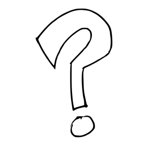 Drawn question mark Art Black Clipart Question White