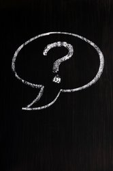 Drawn question mark Speech bubble mark Chalk question