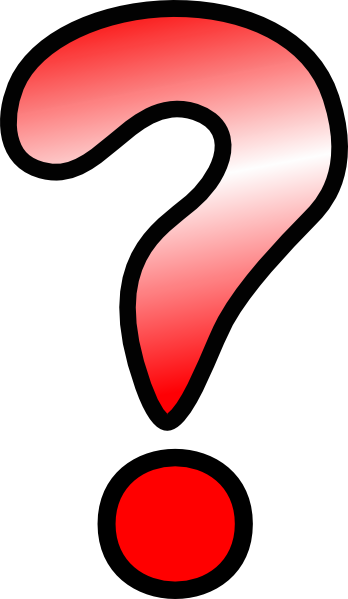 Drawn question mark Red art Question Art this