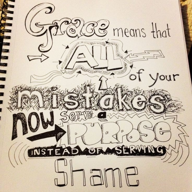 Drawn quote Freehand 59 about grace images