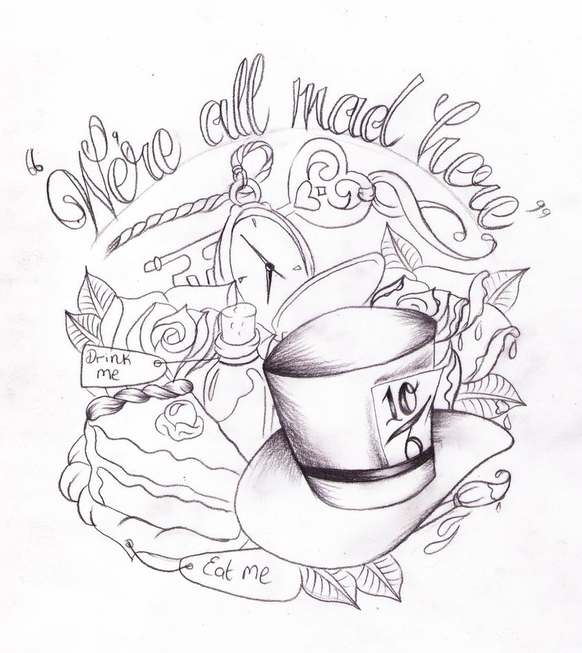 Drawn quote alice in wonderland Alice in on on by