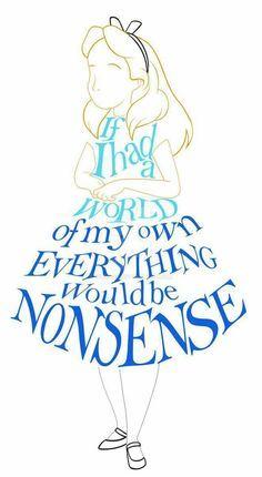 Drawn quote alice in wonderland Wonderland Best on Alice on