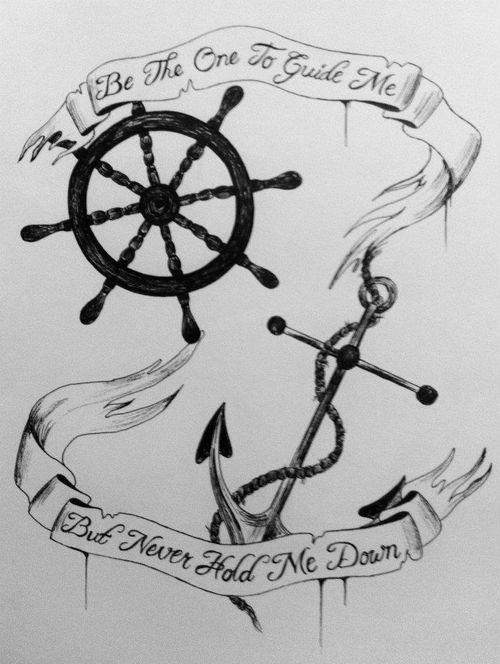 Drawn quote anchor Drawing sea drawing illustration anchor