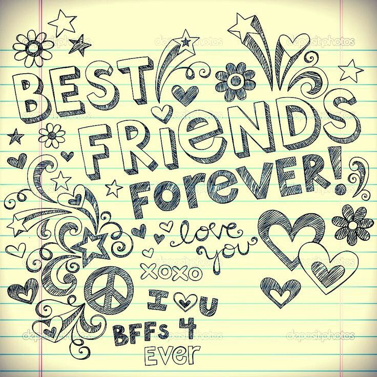Drawn quote best friend On more and Best friends
