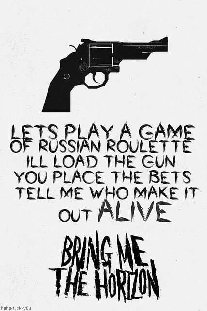Drawn quote bring me the horizon (My song  on Blood