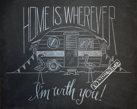 Drawn quote chalkboard Wherever Wherever to drawn You