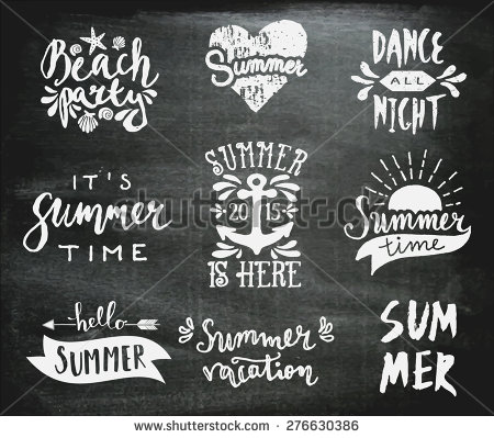 Drawn quote chalkboard Sunshine typographic of calligraphic Digital