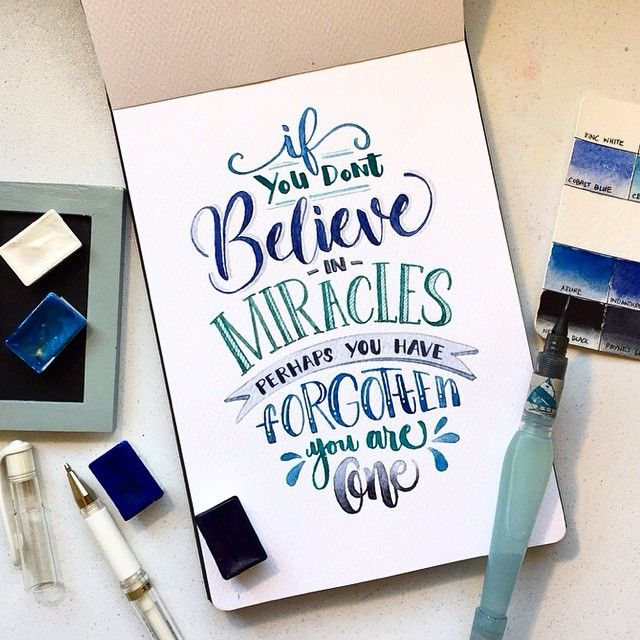 Drawn quote different font Good best vibes miracle to
