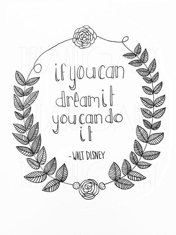 Drawn quote disney On on Etsy by best