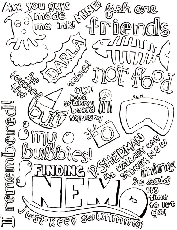Drawn quote disney movie Collage and G N S