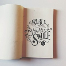 Drawn quote happy Images typography stamp Design Hand