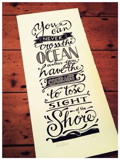 Drawn quote hand lettered For original Order art Lettering