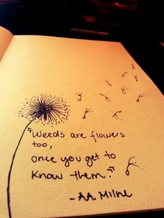 Drawn quote handwriting Flowers are #dandelion once Weeds