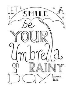Drawn quote happy Print Life by Rainy thousand