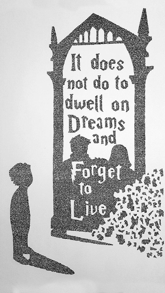 Drawn quote harry potter #3