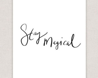 Drawn quote imperfect Art Imperfect Stay Typography Poster