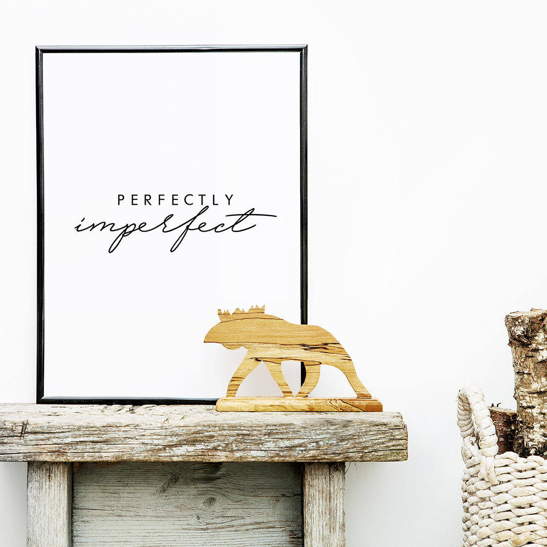 Drawn quote imperfect Typography Perfectly Perfectly Quote Hand