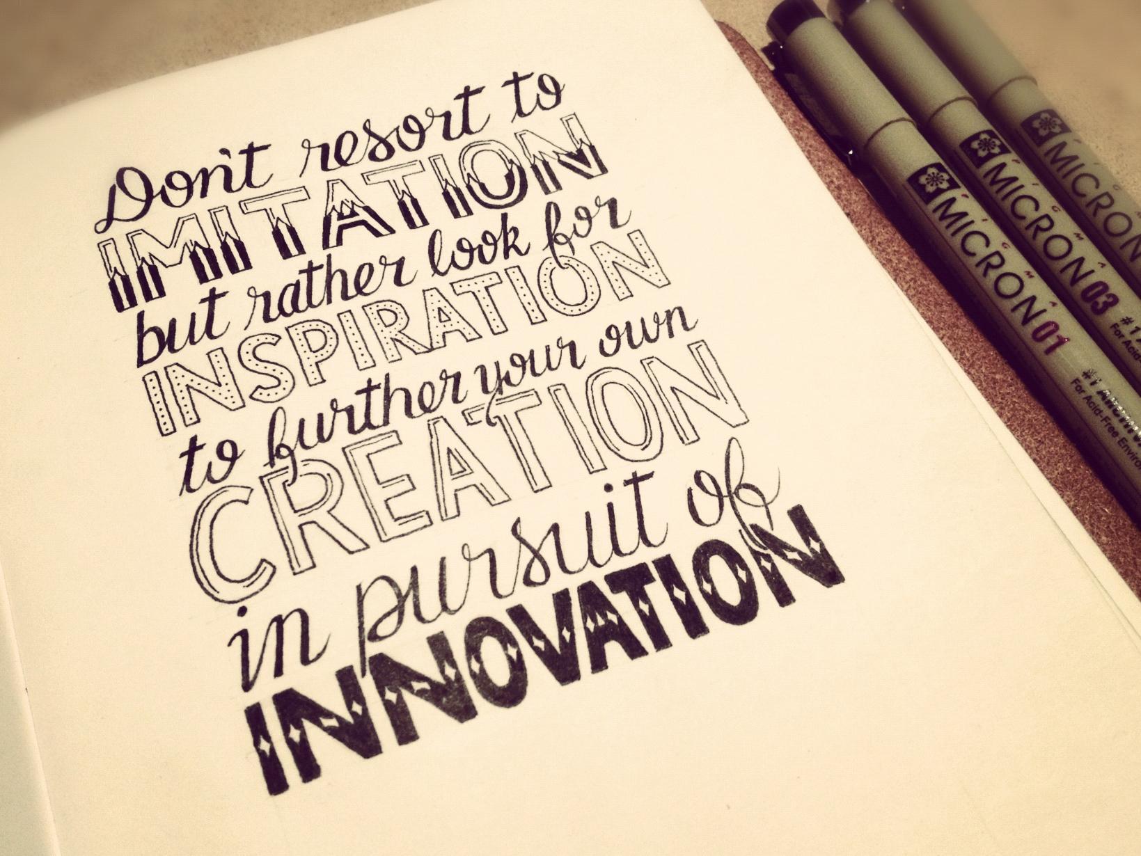 Drawn quote inspirational Com/2012/imitation inspiration http://seanwes http://seanwes innovation