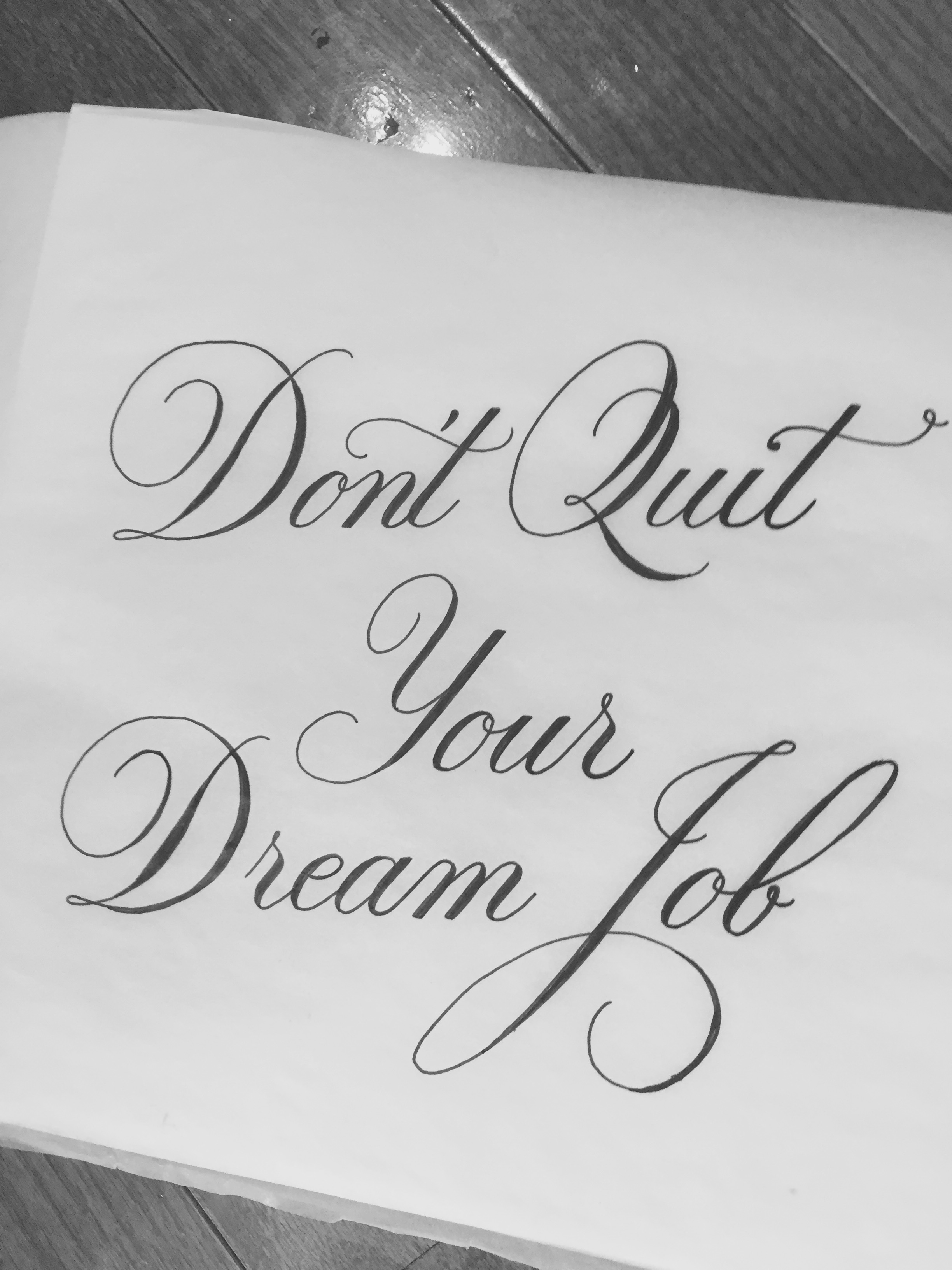 Drawn quote job Inspirationde typography drawn Quit by