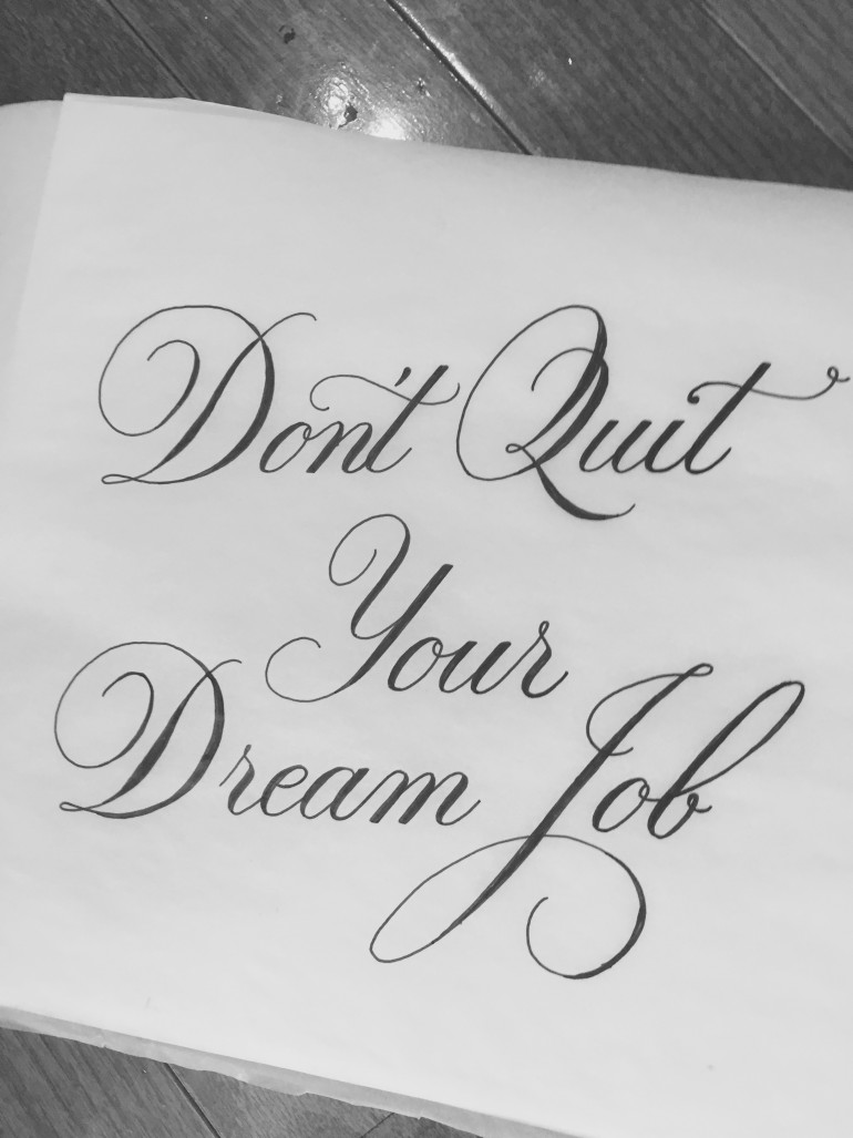 Drawn quote job Quit by quote Quit