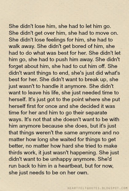 Drawn quote letting go Quotes:  Breakup let let
