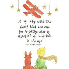 Drawn quote little prince Discover more Pinterest Art little