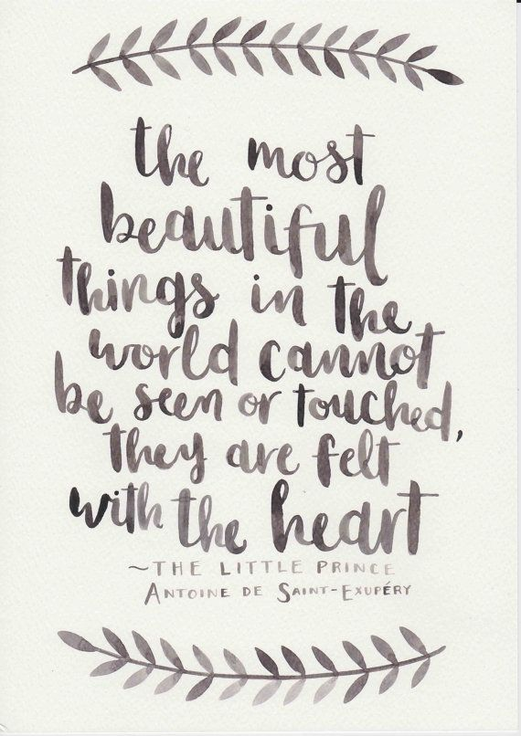 Drawn quote little prince Print Watercolor Black Nursery Pinterest