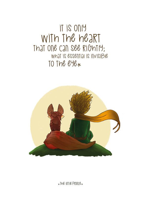 Drawn quote little prince Decor Poster Idea Home/Office Tattoos