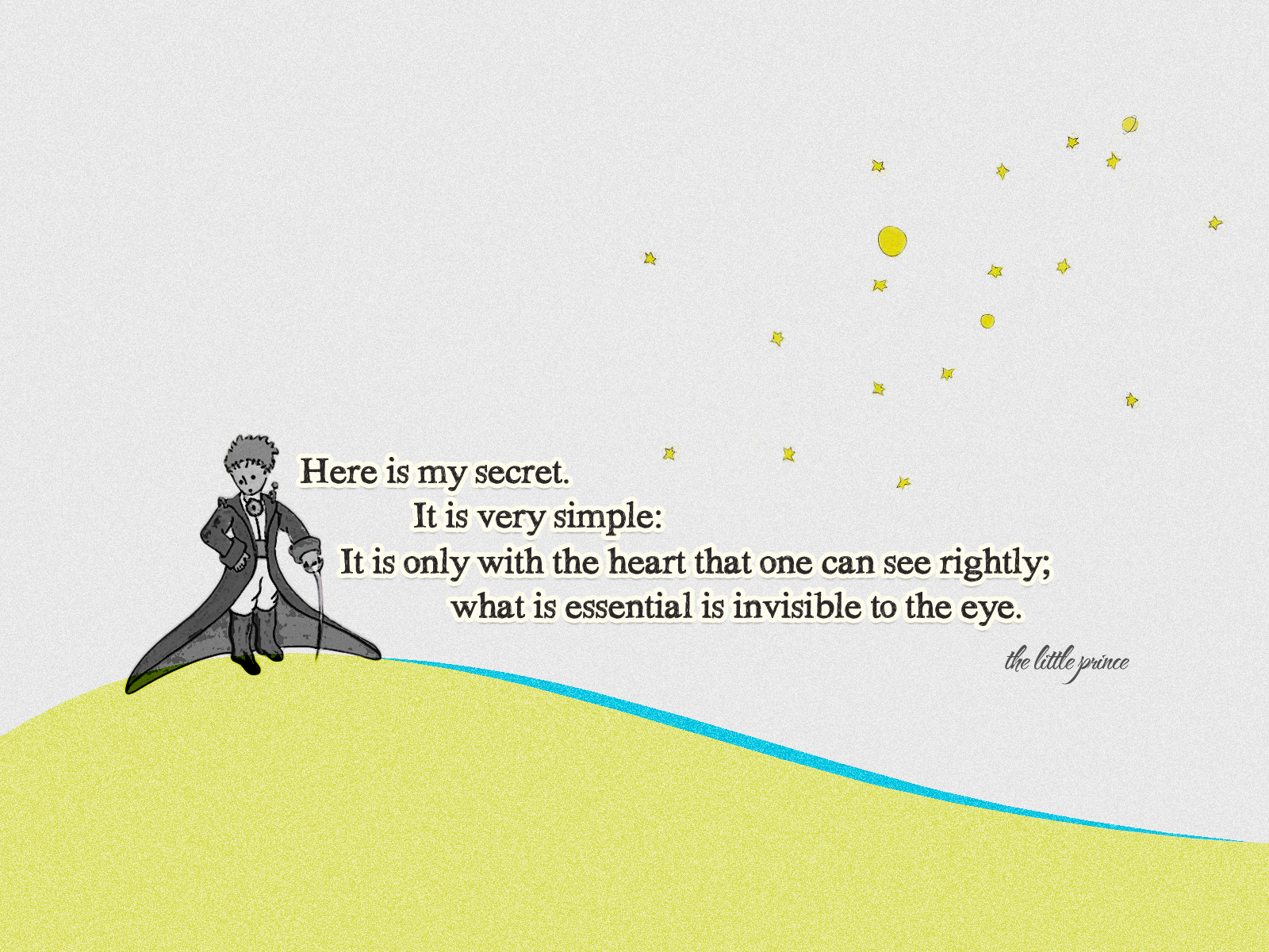 Drawn quote little prince Little The  Prince