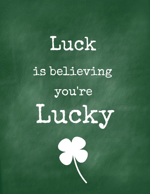 Drawn quote lucky In service to Luck health)