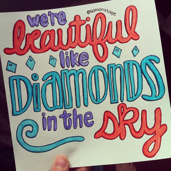 Drawn quote lyric Etsy on by Lyric Diamonds