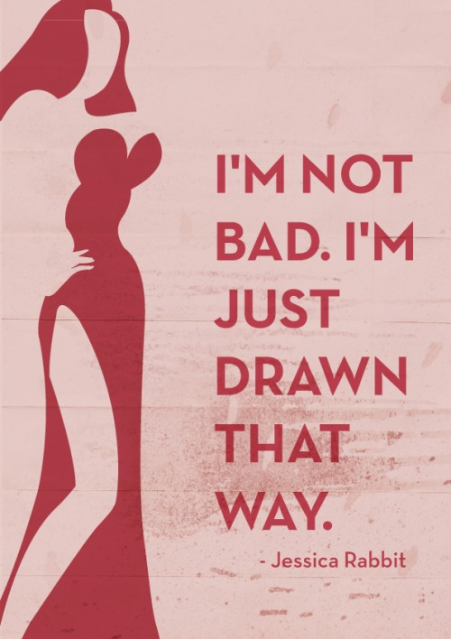 Drawn quote movie Jessica Rabbit Posters Who Who
