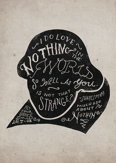 Drawn quote much ado about nothing Ado William images Much on