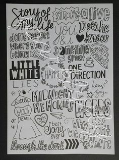 Drawn quote one direction song I Pin One Songs 5