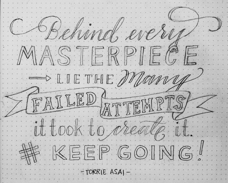 Drawn quote pencil Lettering images this more Lettering