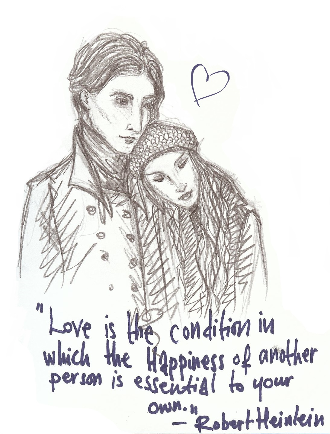 Drawn quote pencil Love In drawing Cute Love