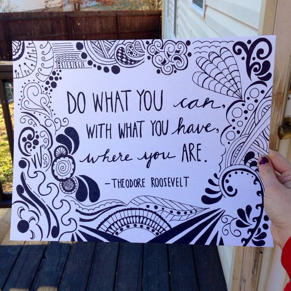 Drawn quote pinterest On 15 Inspirational Hand Theodore